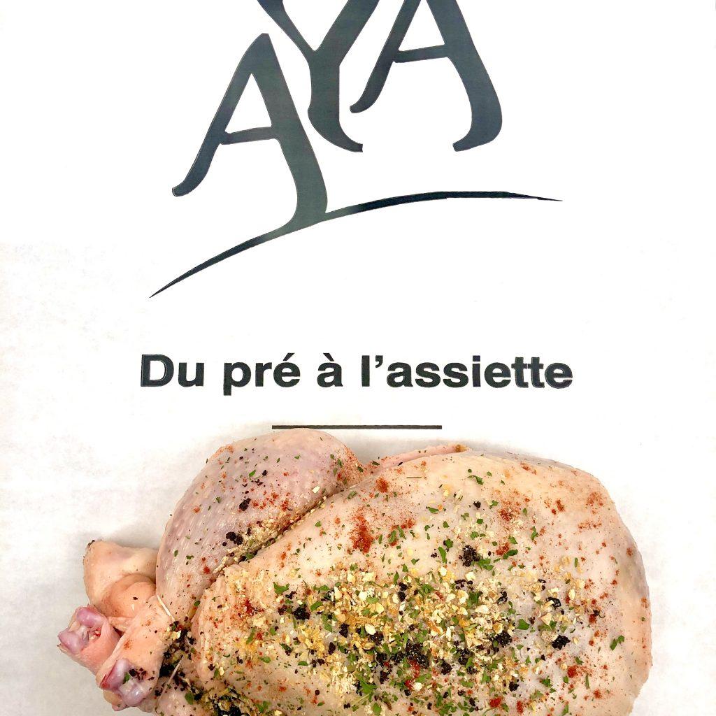Poulet farci au veau à la provençale